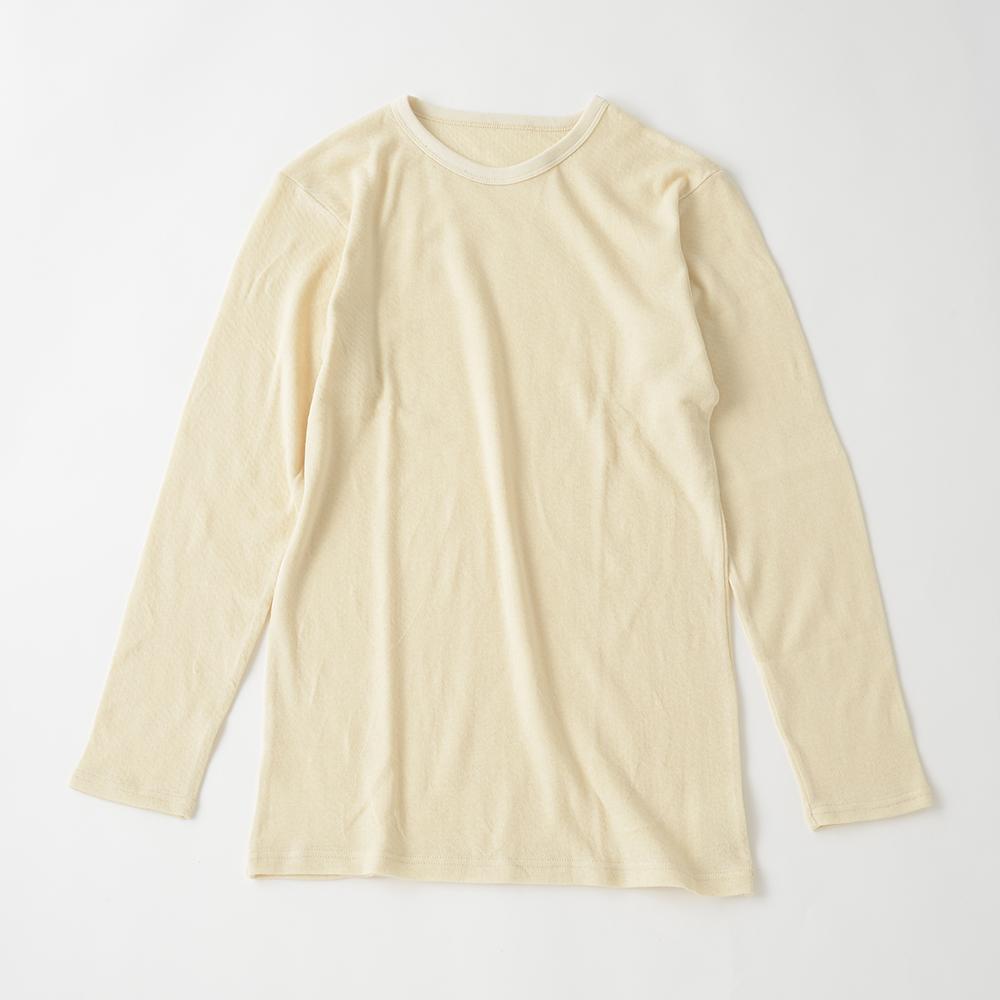 スーピマ接結ニット 敏感肌対応 メンズ 暖か丸首シャツ